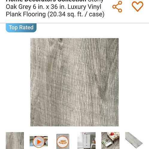 Home Decorators Collection Stony Oak Grey 6 in. x 36 in. Luxury Vinyl Plank
