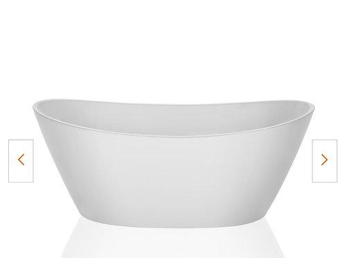67 in. Luxury Freestanding Bathtub Stand Alone Flatbottom Acrylic Soaking Tub