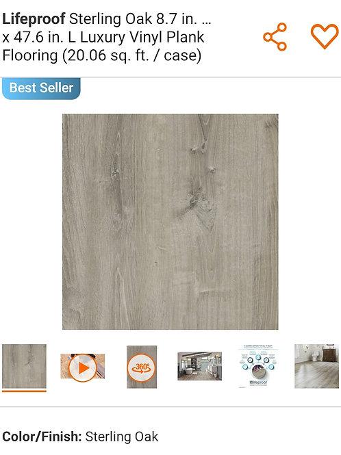 Lifeproof Sterling Oak 8.7 in. W x 47.6 in. L Luxury Vinyl Plank Flooring