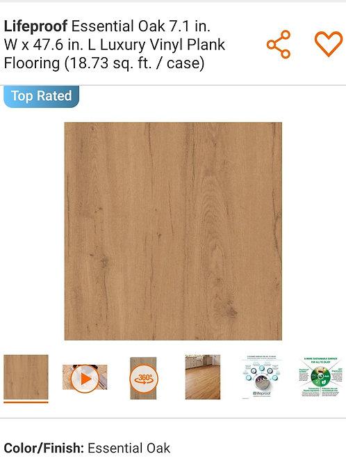 Lifeproof Essential Oak 7.1 in. W x 47.6 in. L Luxury Vinyl Plank Flooring