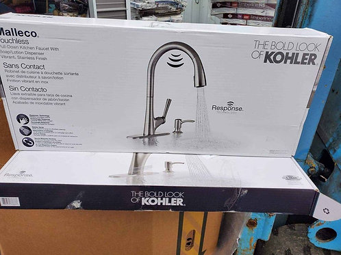 Kohler Malleco Touchless Pull-down Kitchen Faucet with Soap Dispenser Stainless