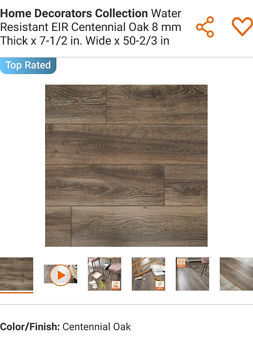 Home Decorators Collection Water Resistant EIR Centennial Oak 8 mm Thick