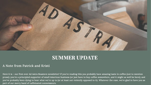 Our Very First Newsletter