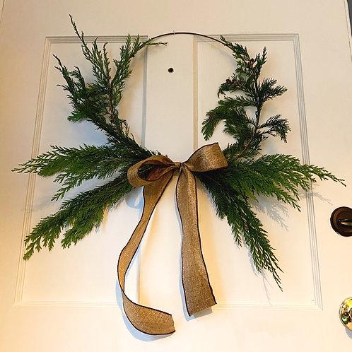 Modern Cedar Wreath