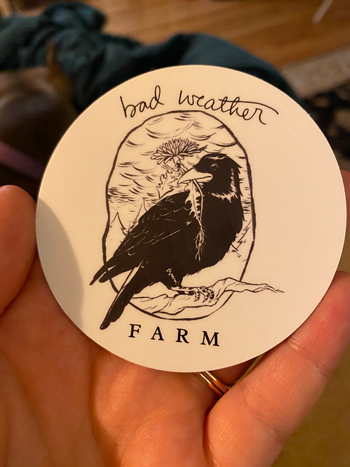"Bad Weather Farm Sticker (3"")"