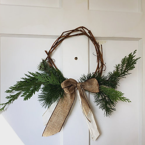 Grapevine + Evergreens Wreath