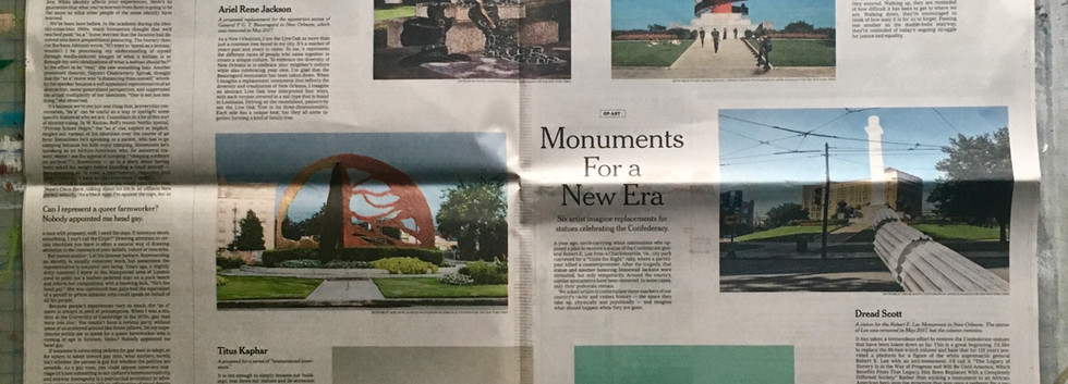 New York Times Op-Art Monuments for a New Era