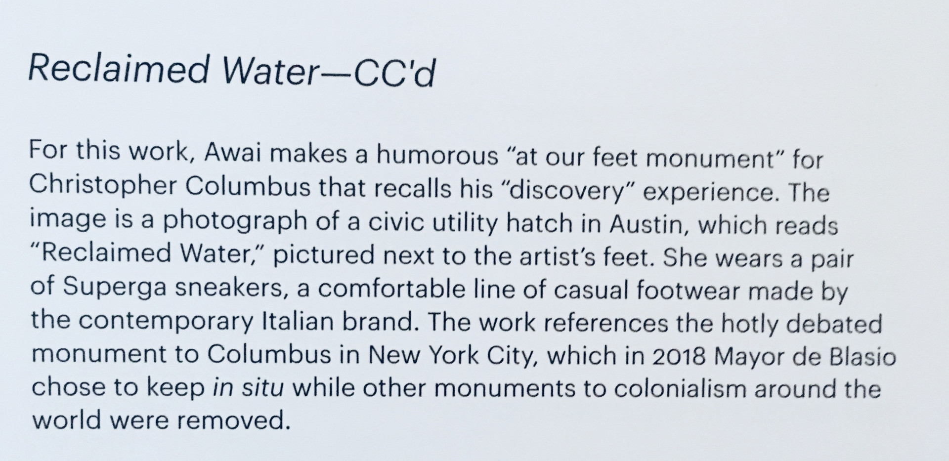 Reclaimed Water CCd
