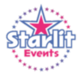 starlit events logo on contact card page