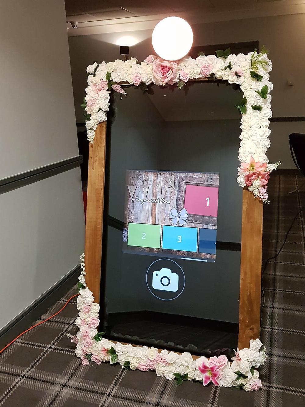starlit events selfie mirror flower frame