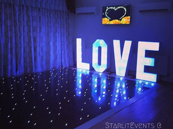 Starlit dance floor and Love letters at Norton House