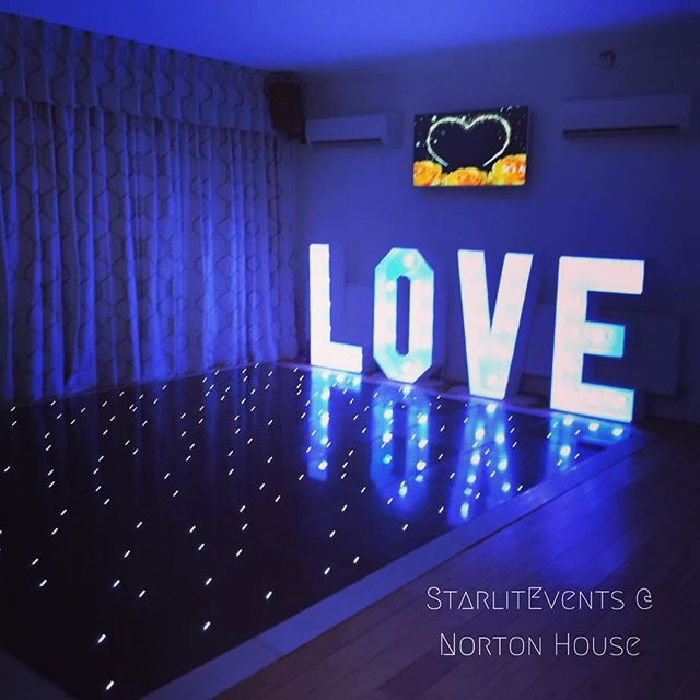 starlit events dance floor and love letters