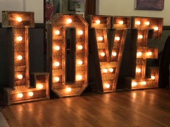 Our Amazing New 4ft Rustic Love Letters.