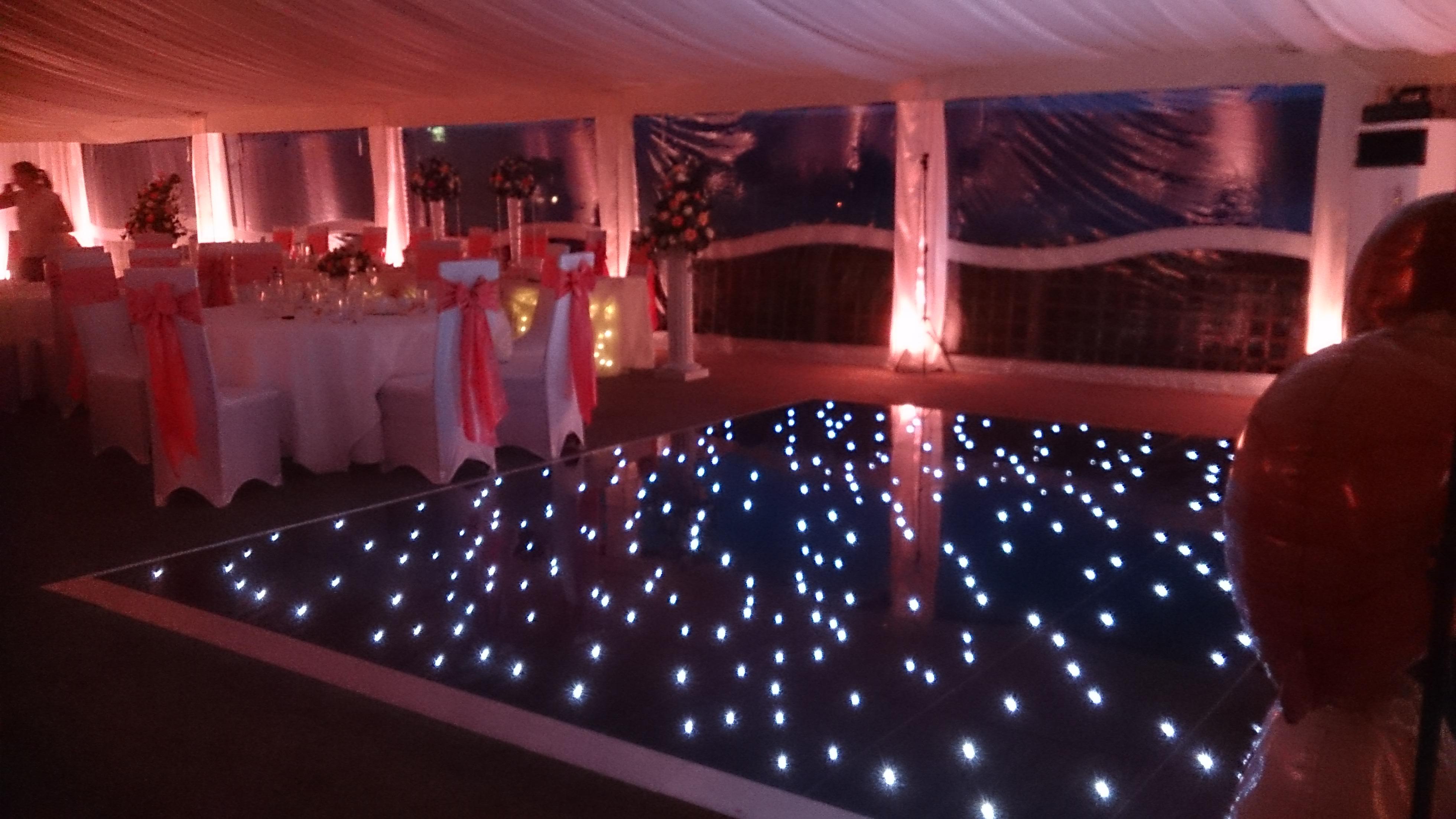 Starlit Events Black starlight floor