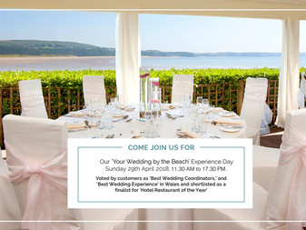 Save the date Come see us at the Oxwich bay Wedding by the Beach Experience