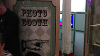 Vintage booth at Heronston hotel and spa