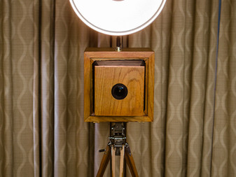 Introducing our new vintage Bellows Photo booth.
