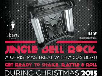 First one tonight at the liberty stadium Jingle bell rock xmas party