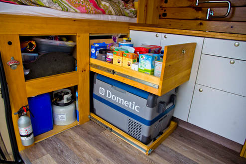 Pantry Storage & Fridge Pull-Out