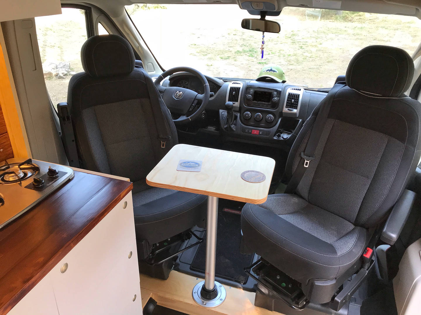 Dinette Area - Swivel Seats & Removable Table