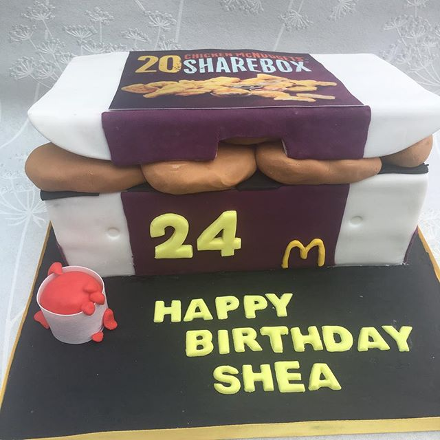 #chickenmcnuggetscake #chickenmcnuggets #cakecakecakenewcastle #newcastlecakedecorator #cake #mcdona