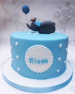 #babyboycake #elephantcake #christeningcake #onemonthold