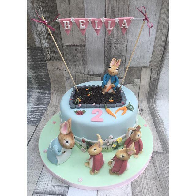 #peterrabbit #peterrabbitcake #flopsybunny #2ndbirthday #cake #newcastlecakedecorator