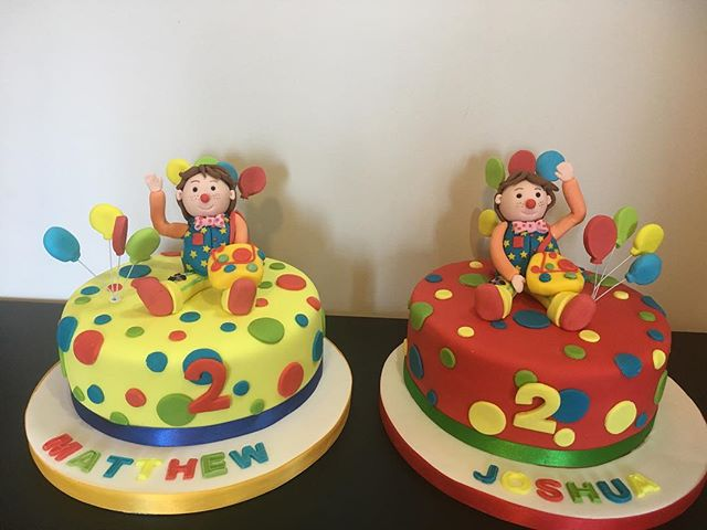 #mrtumblecake #mrtumble #twincakes #twins #2ndbirthday #cakecakecakenewcastle #newcastlecakedecorato