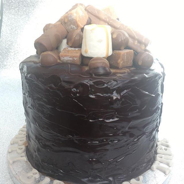 Belgian chocolate fudge cake
