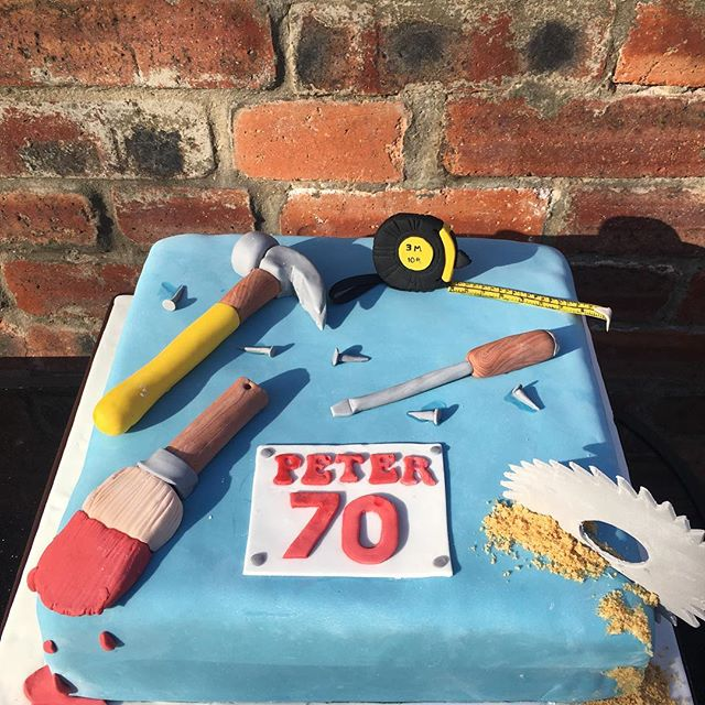 Happy 70th birthday Peter! #diytheme #70cakefordad #cakenewcastle