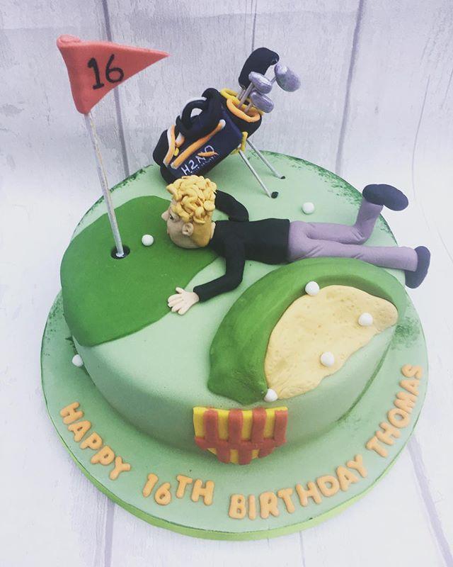 #golfcake #golfer #16thbirthday #cake #newcastlecakedecorator