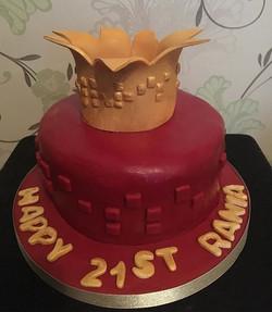 Cake inspired by Rihanna's album 'Anti' #rihanna #rihannaanti #rihannacakes #birthdaycake