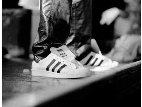 Run DMC for Adidas superstar's 50th anniversary