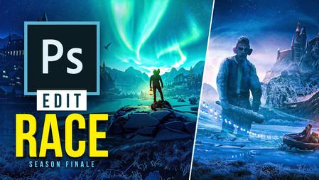 2 Digital Artists Use the SAME Images! (photoshop)   Edit Race S1E8 - Season Finale