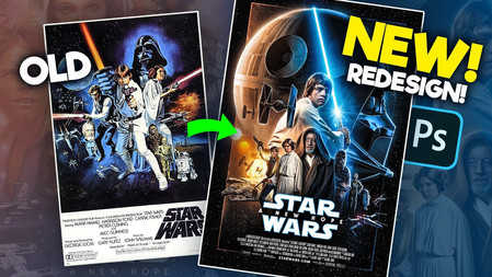 How I remade Star Wars: A New Hope's Poster! (Photoshop)