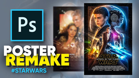 How I remade the Attack of the Clones poster! (photoshop)