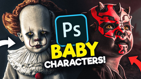 Turning Movie Characters into BABIES With Photoshop!
