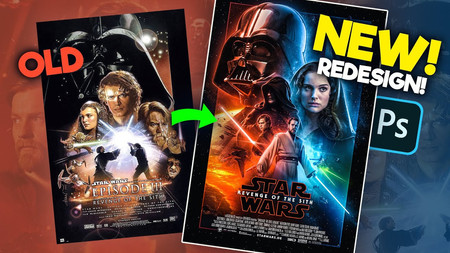 How I Remade the Revenge of the Sith Poster! (photoshop)