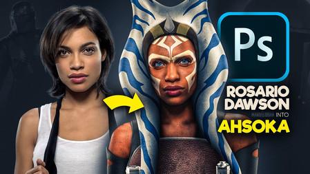 Turning Rosario Dawson Into Ahsoka Tano With Photoshop!