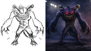 Monster Drawing Realistified