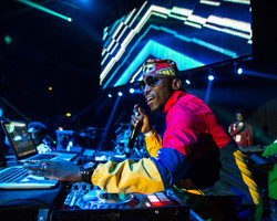 DJ Spinall at the One Africa Fest