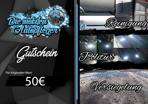 50€ Gutschein Dienstleistung