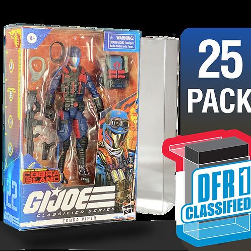 25 Pack Deflector Box CLASSIFIED GI JOE Series FigureShield - DFR-1