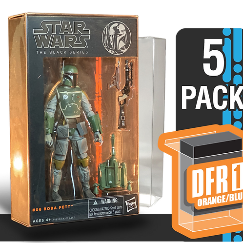 5 Pack Deflector Box Orange/Blue Star Wars Black Series FigureShield - DFR-1