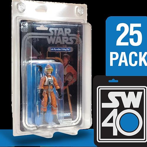 "25pk Star Wars 40th Anniversary 6"" FigureShield - SW40-25"