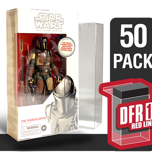 50 Pack Deflector Box Red Line Star Wars Black Series FigureShield - DFR-1