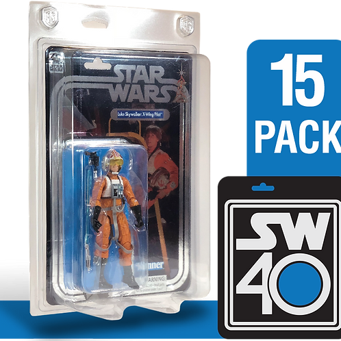 "15pk Star Wars 40th Anniversary 6"" FigureShield - SW40-15"