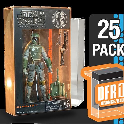 25 Pack Deflector Box Orange/Blue Star Wars Black Series FigureShield - DFR-1