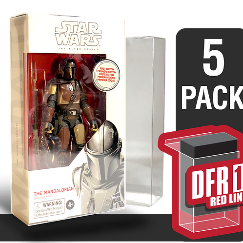 5 Pack Deflector Box Red Line Star Wars Black Series FigureShield - DFR-1