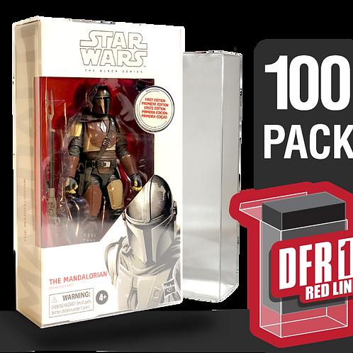 100 Pack Deflector Box Red Line Star Wars Black Series FigureShield - DFR-1